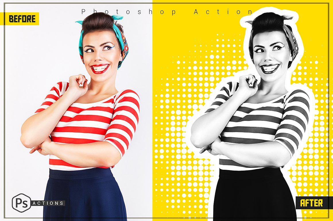 Pop-Art-Yellow-Action
