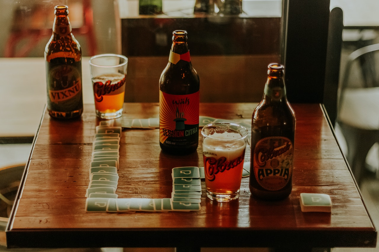 bottles of beer on table